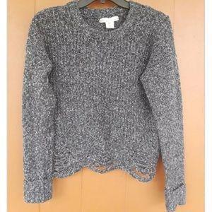 Gray Crocheted sweater